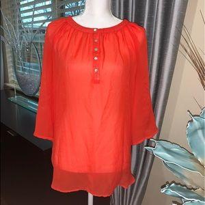 APT. 9 sheer red blouse